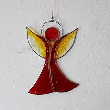 Fensterdeko Engel Aus Resin Rot Und Gelb Fenster Deko Zum