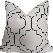 off white throw pillow. embroided black and off-white decorative pillow cover off white throw