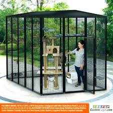 outdoor patio cat kitty condo enclosures for cages indoor furniture designs