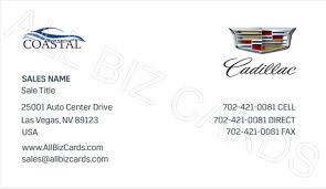 Sales Business Cards New Required Cadillac Auto Dealer Business Cards Letterhead