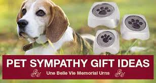 pet sympathy gifts offering pet loss support to a loved one