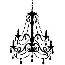 white chandelier clip art black chandelier clipart intended for elegant home black and white chandelier prepare