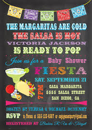 mexican themed baby shower invitations with style baby