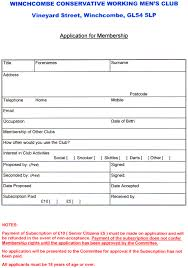 Club Membership Form Template Membership Form Template Word With Sample Job Application Form Word