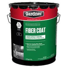 Liquid Asphalt Gardner 4 75 Gal Fiber Coat Liquid Asphalt Roof Coating 0105 Ga