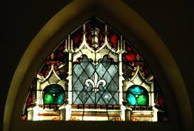 fleur de lis stained glass stained glass window st catholic church fleur de lis stained glass