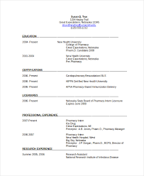 Pharmacist Resume Sample New Pharmacist Resume Template 60 Free Word PDF Document Downloads