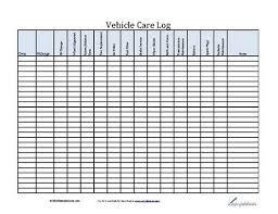 Auto Maintenance Logs Vehicle Care Log Printable Pdf Form For Car Maintenance