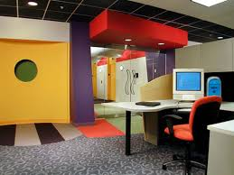 office color design. Modern Office With Yellow Color Design E