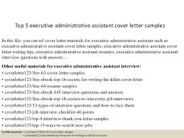 Top 5 Executive Administrative Assistant Cover Letter Samples 1 638