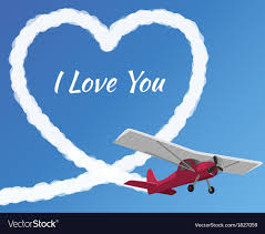 Airplane Drawing Airplane Drawing A Cloudy Love Royalty Free Vector Image