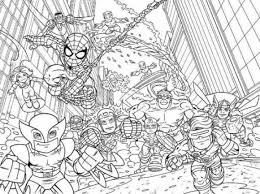 Small Picture Super Hero Squad Marvel Coloring Page Printable For Kids