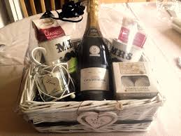 Wedding present hamper idea his and hers theme with champagne, Yankee  candles, mugs and