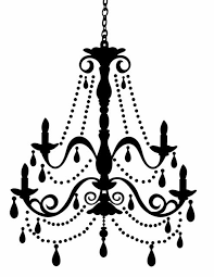 doodle craft large silhouette chandelier