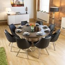 large elm wood cicular 1 6m dining table 8 modern balck chairs