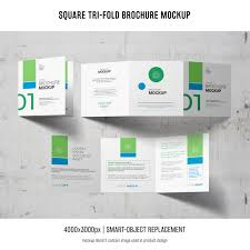Huge collection of free mockups, patterns, illustrations, scene creators, diy scenes, for photoshop, sketch, and figma. Free Psd Square Tri Fold Brochure Mockup