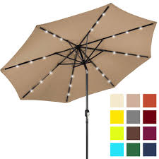 best with lights best choice s 10ft solar powered led lighted patio umbrella