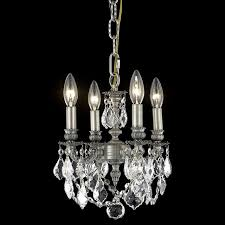elegant 9104d10pw rc lillie vintage classic crystal mini chandelier in pewter loading zoom