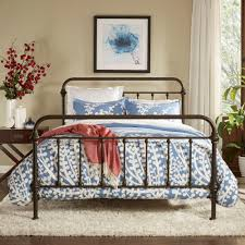 Queen Iron Bed With Scroll Design Platform Full 0080200 1000 ...