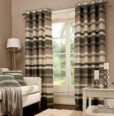 gray and cream curtains