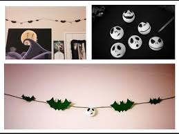 diy nightmare before christmas garland room decor youtube