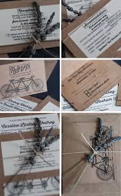 diy bike themed wedding invitations