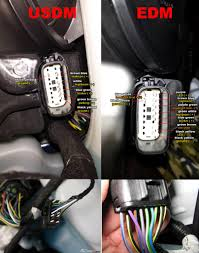 fiesta st head light wiring schematics heres a pin out pic from another post by dirtyblueshirt i believe this pic shows both usdm and edm pin outs