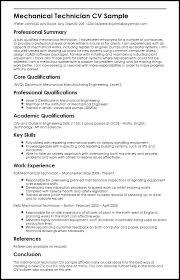 Sample Mechanical Engineering Resume Resume Template Mechanical ...