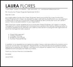 Sample Construction Cover Letters Construction Project Engineer Cover Letter Sample Cover