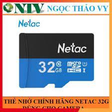 Mã ELCACOIN08 hoàn đến 100k xu]Thẻ nhớ Netac 32G U1 Micro SDHC dùng cho  camera Yoosee [Hàng chính hãng], giá chỉ 106,800đ! Mua ngay kẻo hết!