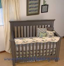 retro baby furniture. retro car fabric with chevron in the crib baby furniture