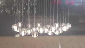 orion 25 light led rectangular floating glass chandelier pertaining to glass ball chandelier