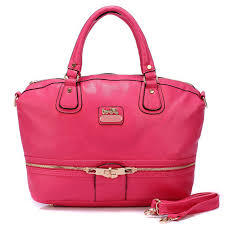 Latest Coach Zip In Logo Large Fuchsia Satchels Bjj Sale PRBDn