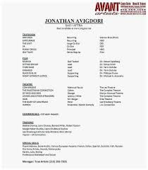 Acting Resume Outline 76 Unique Gallery Of How To Write An Acting Resume Best Of