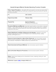 Free Standard Operating Procedures Template Download Generous Protocol Templates Gallery Example Resume And Template 22