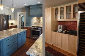 Light Blue Kitchen Blue Kitchen Walls With Brown Cabinets Winda 7 Furniture