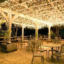 outdoor string lighting ideas hanging party lights exterior outside patio white deck