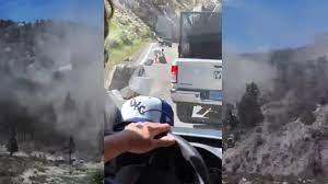 Hwy 395 during California earthquake ...