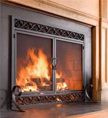 main image for cast iron scrollwork fire screen with doors