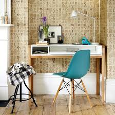 wallpaper for home office. Use Wallpaper With A Decorative Lettering Design To Add Character Your Home Office. For Office L
