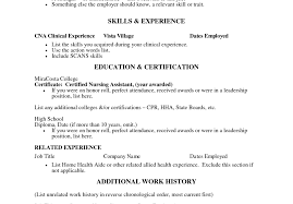 Certified Nursing Aide Sample Resume How To Do Profit And Loss