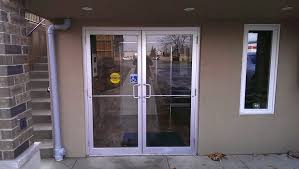 commercial front doors glass with aluminum frame