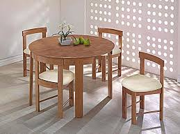 Round Dining Table In Medium Oak With 4 Chairs Blue Ocean Interiors