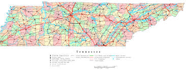 tennessee printable map