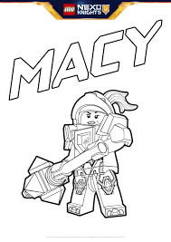 Small Picture Macy Coloring Page Colouring Page Activities NEXO KNIGHTS