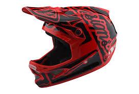 Troy Lee Design Troy Lee Designs D3 Fiberlite Factory Helmet Red