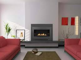 real wood contemporary gas fireplace design with