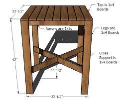diy patio bar table. Dimensions: Diy Patio Bar Table S