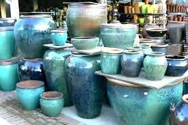 large ceramic garden pots amazing clay plant planters very glazed pottery in big garden pots big
