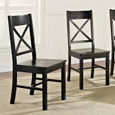 Black Wood Dining Chairs Family 303398161 Millwright Antique Black Wood Dining Chair Set